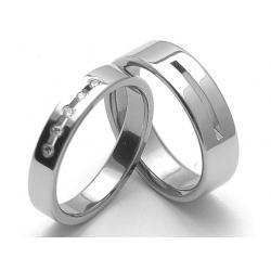 Ocelové snubní prsteny SRZ4025