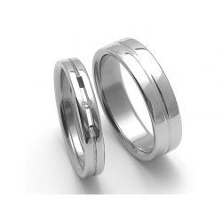 Ocelové snubní prsteny SRZ4026