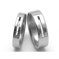 Ocelové snubní prsteny SRZ4045