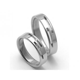 Kvalitní a cenově zajímavé ocelové snubní prstýnky.