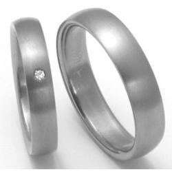 Titanové snubní prsteny STT0200