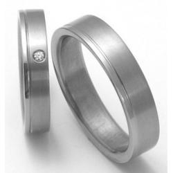 Titanové snubní prsteny STT0300