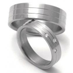 Titanové snubní prsteny STT0500