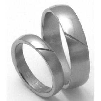 Kvalitní a cenově velmi výhodné titanové snubní prsteny,