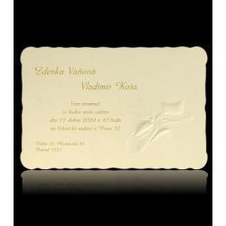 Svatební oznámení Classic A1616