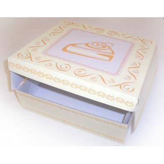 Papírová krabička na dort s potiskem (karton), 28x28 cm.