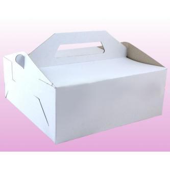 Papírová krabička na výslužky bez potisku (karton), 19x16 cm.