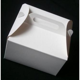 Papírová krabička na výslužky bez potisku (karton), 21x21 cm.