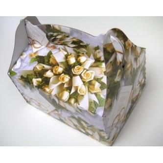 Papírová krabička na výslužky s potiskem, 20x15 cm.