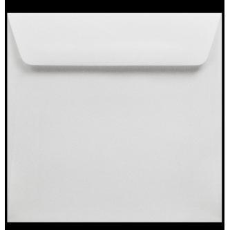 Samostatně prodejná obálka na svatební oznámení. Kvalitní papír bílé barvy, obdélníková, 160x155 mm.