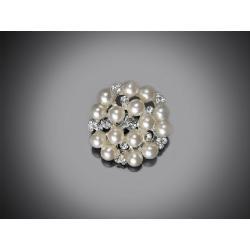Ozdobná perličková brož 25 mm