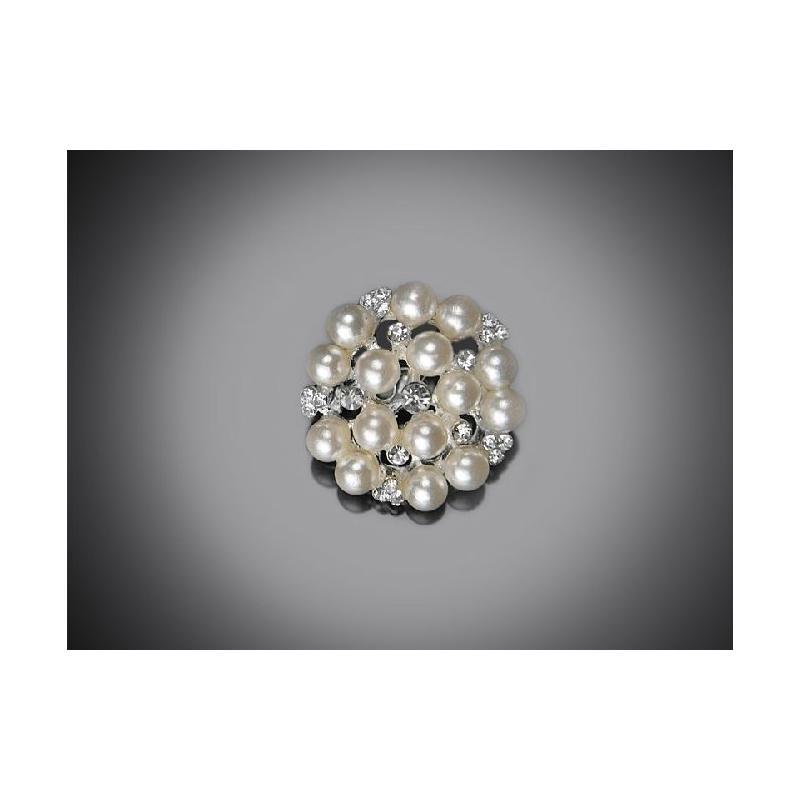 4f459b455a9 ... Ozdobná perličková brož 25 mm
