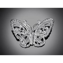 Ozdobná perličková brož, motýl 20x30 mm