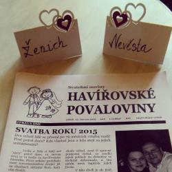 Svatební noviny + 50 výtisků