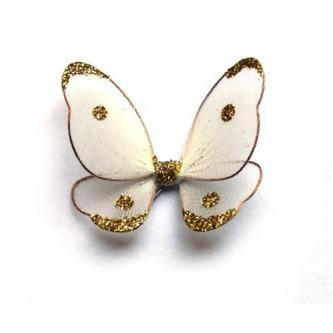 Dekorační motýlek z drátku, různobarevný, 7cm.