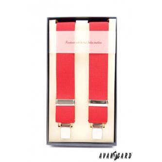 Pánské červené šle zn. Avantgard 863-9005-0