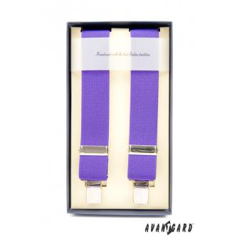 Pánské fialové šle zn. Avantgard 863-9017-0
