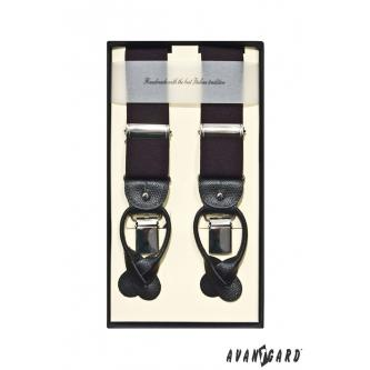 Pánské černé šle zn. Avantgard 864-23-0
