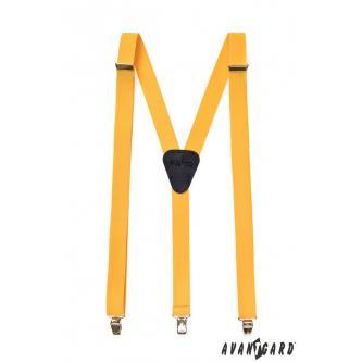 Pánské žluté šle zn. Avantgard 867-9027-0