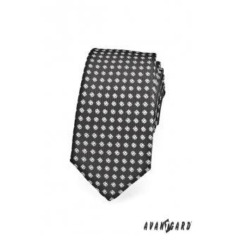 Pánská černá kravata SLIM zn. Avantgard 551-1455-0