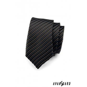 Pánská černá kravata SLIM zn. Avantgard 551-1491-0