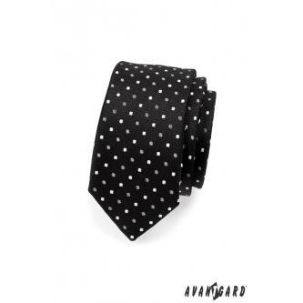 Pánská černá kravata SLIM zn. Avantgard 551-1521-0