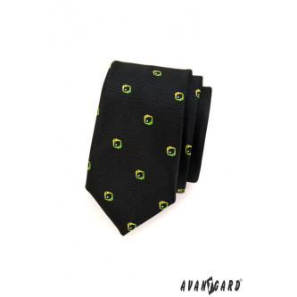 Pánská černá kravata SLIM zn. Avantgard 551-1554-0