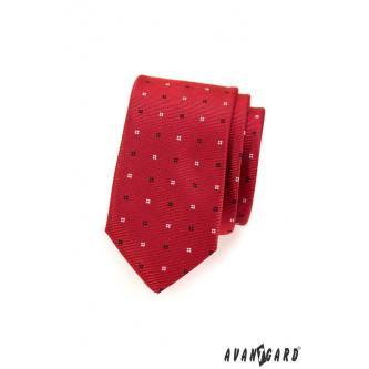Pánská červená kravata SLIM zn. Avantgard 551-1557-0
