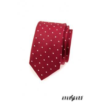 Pánská bordó kravata SLIM zn. Avantgard 551-1567-0