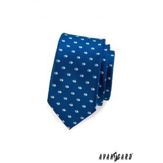 Pánská modrá kravata SLIM zn. Avantgard 551-1568-0