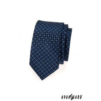 Pánská modrá kravata SLIM zn. Avantgard 551-1582-0