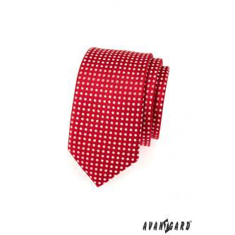 Pánská červená kravata SLIM zn. Avantgard 551-1583-0