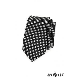 Pánská černá kravata SLIM zn. Avantgard 551-1591-0