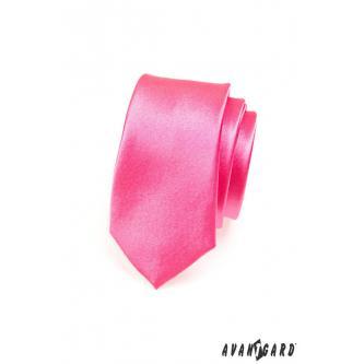 Pánská růžová kravata SLIM zn. Avantgard 551-707-0