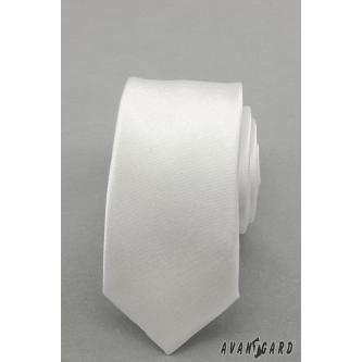 Pánská bílá kravata SLIM zn. Avantgard 551-721-0