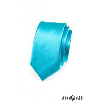 Pánská tyrkysová kravata SLIM zn. Avantgard 551-741-0