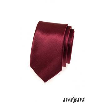 Pánská bordó kravata SLIM zn. Avantgard 551-754-0