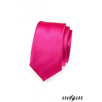 Pánská růžová kravata SLIM zn. Avantgard 551-756-0