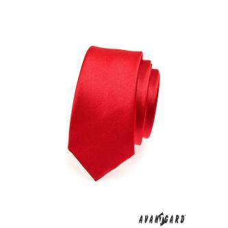 Pánská červená kravata SLIM zn. Avantgard 551-758-0