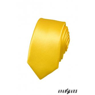 Pánská žlutá kravata SLIM zn. Avantgard 551-770-0