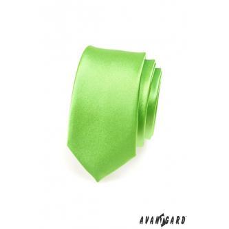 Pánská zelená kravata SLIM zn. Avantgard 551-780-0