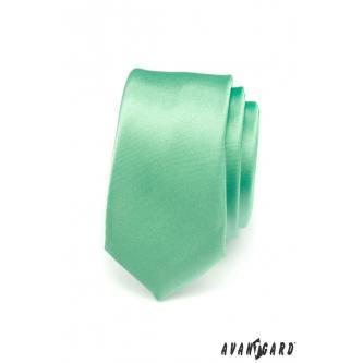 Pánská zelená kravata SLIM zn. Avantgard 551-793-0
