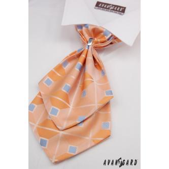 Pánský oranžový plastron s kapesníčkem zn. Avantgard 554-091004-0