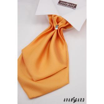 Pánský oranžový plastron s kapesníčkem zn. Avantgard 554-71108-0