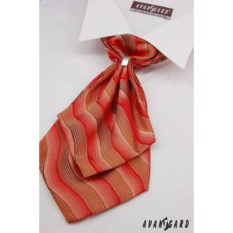 Pánský červený plastron s kapesníčkem zn. Avantgard 554-71110-0