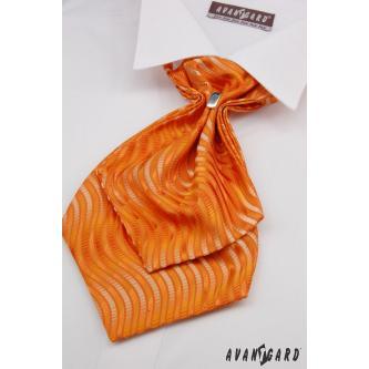 Pánský oranžový plastron s kapesníčkem zn. Avantgard 554-71112-0