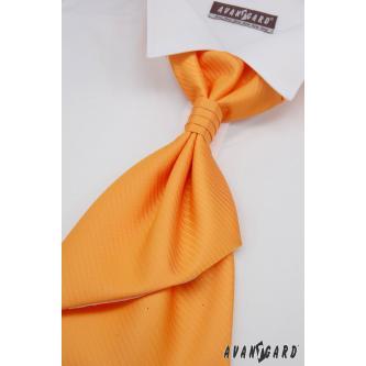 Pánská oranžová regata s kapesníčkem zn. Avantgard 555-091007-0