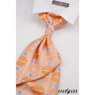 Pánská oranžová regata s kapesníčkem zn. Avantgard 555-091014-0