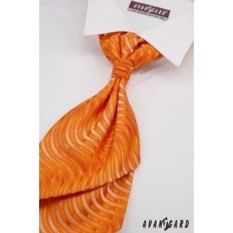 Pánská oranžová regata s kapesníčkem zn. Avantgard 555-71110-0
