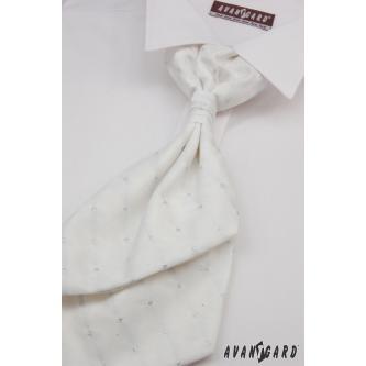 Pánská bílá regata s kapesníčkem zn. Avantgard 555-71113-0